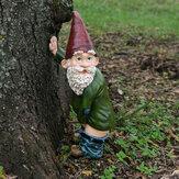Reçine Komik Yaramaz Bahçe Çim İç Mekan veya Outdoor Süslemeleri için Gnome