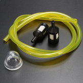 2.5/3mm Clear Fuel Pipe + 2 Mini Filter & Primer Bulb For Ryobi Petrol Strimmers