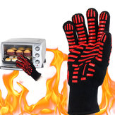 BBQ Grill Glove 500℃ Extreme Heat Resistant Gloves Cooking Baking Gloves Camping Picnic
