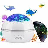 8-Mode LED Night Light Star Sky Proyección Lámpara TOYS FOR BOYS GIRLS Gift for Kid