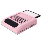 Black Skin White / Black Skin Pink Nail Vacuum Cleaner 80W With Filter Nail Dust Collector