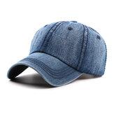 Mens Washed Cotton Cowboy Baseball Cap Casual Sunscreen Hat Adjustable