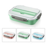 304 Stainless Steel Insulated Bento Lunch Box Leak-proof with 4 Compartments For Outdoor Camping Picnic