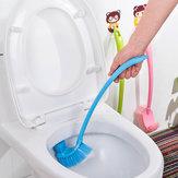 Honana BX-131 Gruba plastikowa długa rączka Szczotka toaletowa Podwójna szczoteczka do czyszczenia narożników do akcesoriów łazienkowych