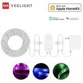 Yeelight YLDD05YL 1S 2M Aplicación inteligente RGB LED Tira de luz que funciona con Homekit SmartThings + enchufe de EE. UU. (Producto del ecosistema Xiaomi)