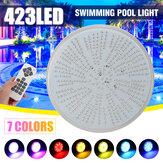 LED Yüzme Havuz Işık 423 leds AC / DC12V RGB Reçine Değiştirme PAR56 Lamba Su Geçirmez IP68 Çok Renkli 2 m Tel Sualtı Işıkları