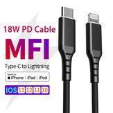 San Guan 18W 2A para Lightning para cabo USB Type-C com certificado MFi 1m / 3 pés para iPhone Cabo carregador de transferência de dados para iPhone 12 12 Mini 12 Pro Max 11 11 Pro 11 Pro Max SE 2020 para iPad Air