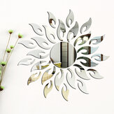 3D Mirror Sun Flower Totem Removable Wall Sticker Decal Home Room Decor