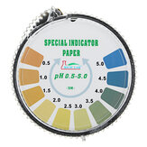 Strisce reattive di precisione PH Rotolo a corto raggio 0,5-5.0 Indicatore Carta Tester Dispenser Color Chart 5m / 16.4 ft