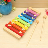 Kids Toys 8 Notes Musical Xylophone Piano Wooden Instrument For Children