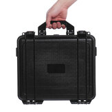 Black Waterproof Hard Plastic Carry Case Bag Tool Storage Box Portable Organizer