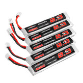 5Pcs URUAV 3.8V 300mAh 40 / 80C 1S HV 4.35V PH2.0 Lipo البطارية for Happymodel Mobula6 Eachine TRASHCAN Snapper6 7 Mobula7