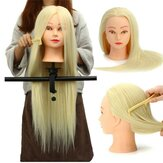 30% Echthaar Lange Frisuren Mannequin Trainings Praxis Leiter Salon + Clamp