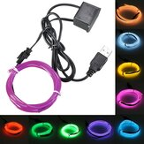 3M Single Color 5V USB Flexibele Neon EL Wire Light Dance Party Decor Light