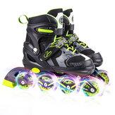 Kids Youth Inline Skates For Boys Girls with Full Flashing Wheels 4-gear Adjustable Beginner Rollerblades