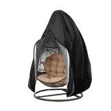 Housse de chaise de patio imperméable à l'eau chaise pivotante oeuf protecteur de protection contre la poussière avec fermeture à glissière UV étui de protection pour chaise suspendue extérieure