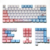 MechZone 73/125 Keys Three Lives Keycap Set OEM Profile PBT Sublimation Keycaps for Mechanical Keyboards