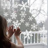 Autocollants muraux de flocon de neige de noël autocollants amovibles en PVC autocollant statique de chambre pour la décoration en verre de bureau à domicile