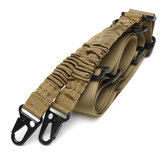 EDC 2 Point Sling Multi-Utiliser Deux Point Pistolet Sling String Clip Sling CS Tactics Gadget 2.16m