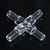 10PCS Water Aquarium Fish Tank Oxygen Air Pump Crystal Square Elbow Pass Pipe Connecting Turn Joint
