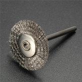 20st Stainless Steel Wire Wielborstelreiniger Polishing Rotary Tool voor Dremel