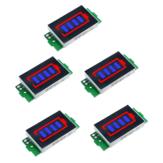 5pcs 1S-8S Single 3.7V lítio Bateria Módulo indicador de capacidade 4.2V azul display veículo elétrico Bateria Power Tester Li-ion