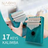 NAOMI 17 kulcs Kalimba tömörfa hüvelykujjas zongora hordozható mahagóni billentyűzet eszköz afrikai Calimba ujjzongora
