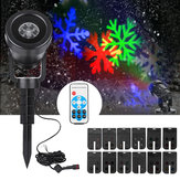 12 Patterns LED Waterproof Landscape Moving Laser Stage Light Projector for Chrismas Halloween