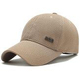 男性女性夏通気性スポーツ野球帽スナップバック日よけ帽バイザー