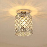 Flush Mount Ceiling Light E27 Base Crystal Fixture Modern Chandelier Mini Hallway Decor 220V Without Bulb