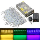 70PCS 5 cores SMD5050 LED Módulo loja Strip Light Front Lamp + Power Supply + DC12V remoto