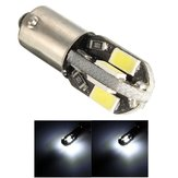 12V Ba9s 2W 100LM 6000K T4W White 6 SMD 5730 LED Dashboard License Wide Light Lamp Motorcycle Car