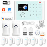 Tuya WIFI GSM Système d'alarme Smart Home Security pour Google Assistat