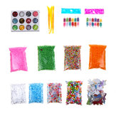 Slime Stuff Charm Fishbowl Beads Glitter Pearls Slime Mylar Flake Slime Containers met schuimballen