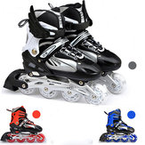 Unisex Adjustable Four Flashing Wheels Skates Shoes Wear-resisting Rollerblade Skate Shoes
