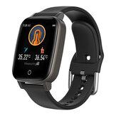 BlitzWolf® BW-HL1T Lichaamstemperatuurmeting Automatische hartslagmeter Ademtraining Weerweergave BTV5.0 Smart Watch