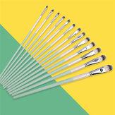 6 / 12PCS Aquarell-Gouache-Pinsel Set Unterschiedliche Form Runde Spitze Spitze Nylon Haar-Pinsel-Set Briefpapier-Malerei Kunstbedarf