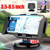 Foldable Multifunctional Horizontal Vertical Car Dashboard Mount Mobile Phone GPS Holder Stand for 3.5-8.5 inch Devices