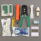 Кабель ручной ручной инструмент Щипцы Набор инструментов сетевой заделки ударных инструментов RJ45 RJ11 11 в 1