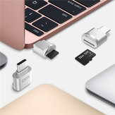 DM Mini Type-C USB 3.1 TF-geheugenkaartlezer voor MacBook-telefoon Tablet