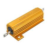 50W 0.5R 1R 2R 2.2R 4R 6R 8R 10R 20R Ohm Aluminium Shell Power Case Wirewound Resistor