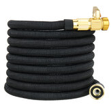 25/50/75/100FT Expandable Garden Water Hose Flexible Latex Tube US Pipe Watering Black