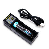 Eizfan C11 Emplacements LED Ecran d'affichage Batterie Chargeur Chargeur USB universel pour 18650 26650 20700 21700 rechargeable Batterie