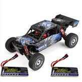 Wltoys 124018 1:12 RTR mejorado 7,4 V 2600 mAh 2,4 G 4WD 60 km / h chasis metálico RC Coche modelos de vehículos dos / tres Baterías