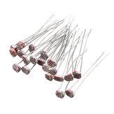 200pcs Light Dependent Resistor LDR 5MM Photoresistor Photoelectric Switch Element Photo Detector 5549