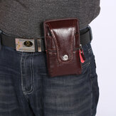 Men Retro Faux Leather Waist Bag Phone Bag