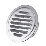 Stainless Steel Round Circle Air Vent Grille Ducting Ventilation Cover Grill Diesel Grill Headrest Cover Air Bbq Cover Shiny Vent