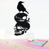 CadılarbayramıKafaTasıDIYDuvar Sticker Çıkarılabilir PVC Duvar Kağıtları Vinil Sanat Çıkartması Dekor Su Geçirmez Çıkartmalar Ev Ev Duvar Sticker Posteri Duvar Dekorasyonu için Yatak Oturma Odası
