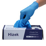 Luvas de nitrilo descartáveis Hizek 100 unidades Luvas de limpeza de trabalho sem látex Soft Luvas industriais