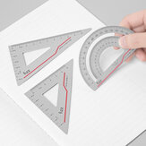 FIZZ 1 Set Aluminum Alloy Ruler Clear Scale Lightweight and Wearable Straight Ruler/Angle Ruler Office School Student Supplies from Xiaomi Youpin